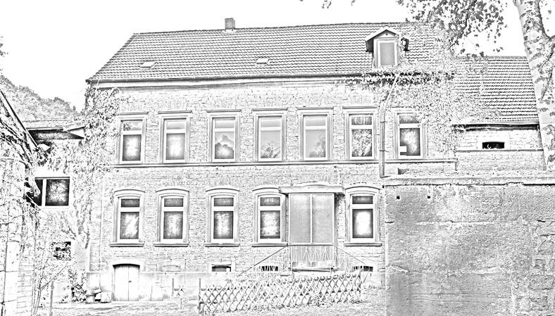 Außenansicht der Galappmühle.